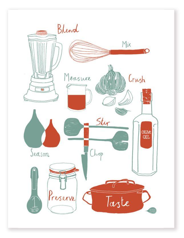 Kitchen Tools Print